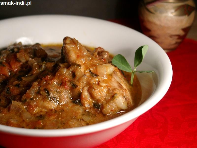 Kurczak z kozieradką - popularne danie kuchni indyjskiej