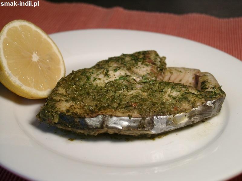 ryba pieczona w zielonej masali
