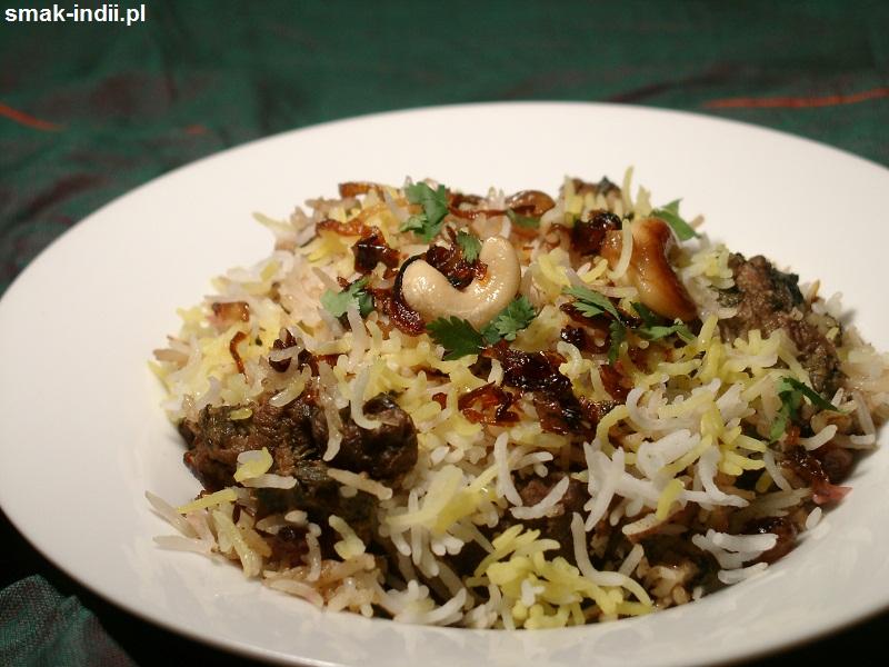 biryani z Hajdarabadu - słynna potrawa kuchni indyjskiej