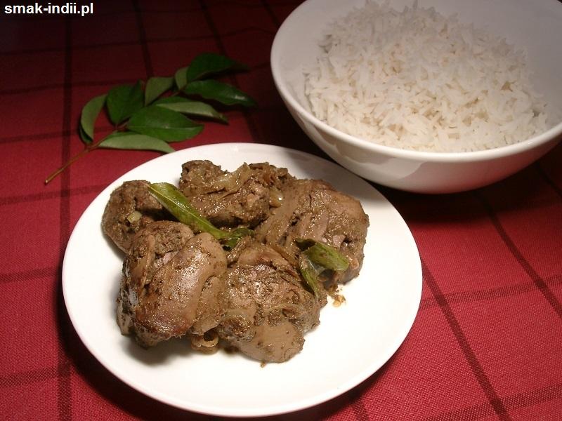 curry z drobiowych wątróbek
