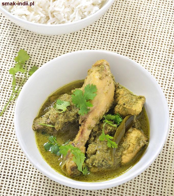 goańskie zielone curry z kurczaka