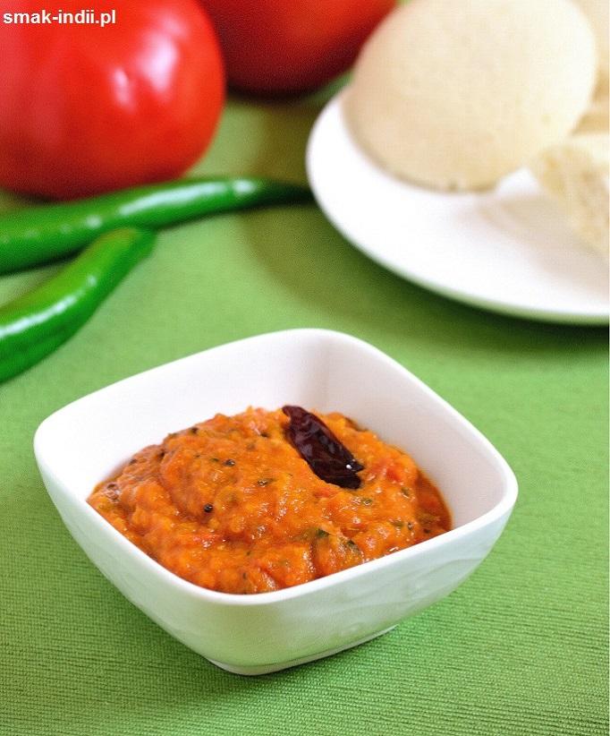 południowoindyjski chutney pomidorowy