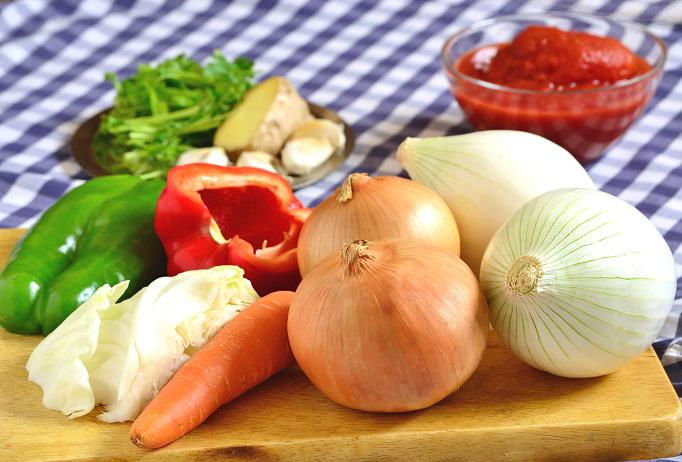 warzywa na sos bazowy