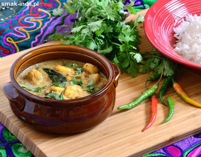 południowoindyjskie curry z krewetek